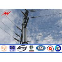 Buy cheap 9 m - 100m Tubular Steel Utility Pole For Electrical Distribution Line Project from wholesalers