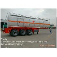 Buy cheap High Capacity 40 Ton Fuel Semi Truck Trailer Tanker , Multi Axles Trailers from wholesalers