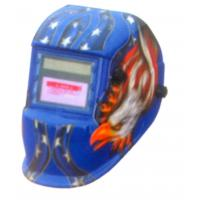 Buy cheap Auto Electrode Darkening Welding Adjustable Helmet Blue / Yellow With PP Body from wholesalers