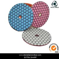 Buy cheap 80mm Dry stone marble granite polishing abrasive pads for grinder from wholesalers