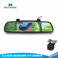 Buy cheap Wide Angle Monitor Rear View Mirror 4.3 Inch With 1 Night Vision Camera from wholesalers