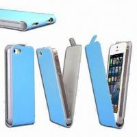 Buy cheap Leather Case for iPhone 5, Various Styles are Available, OEM and ODM Orders are Welcome from wholesalers