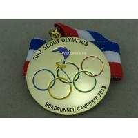 Buy cheap OEM Gold Plating Enamel Medals , Olympic Awards For Running Race from wholesalers
