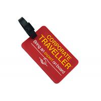 Buy cheap Soft Rubber Custom Plastic Luggage Tags OEM / ODM Accepted Light Weight from wholesalers
