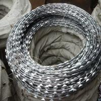 Buy cheap Custom Single Coiled Razor Barbed Wire Mesh , Fake Razor Wire 900mm Diameter from wholesalers