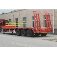 Buy cheap 12M Length 3 Axles Lowboy Gooseneck Trailers With 2 / 3 Inch Bolted Type Kingpin from wholesalers