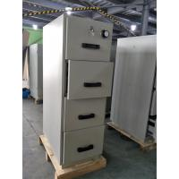 China Grey Steel Fire Resistant Filing Cabinets 4 Drawers For Valuable Records / Documents on sale