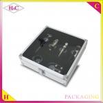 Buy cheap Luxury aluminum wine corkscrew gift box with glass window wine opener box from wholesalers