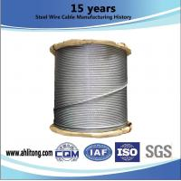 Buy cheap ASTM Metal Galvanized Steel Rope , Galvanized Aircraft Cable  RHOL / LHOL Lay Direction from wholesalers