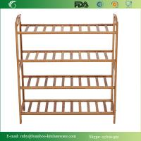 Buy cheap Natural Bamboo Wooden 4-Tier Shoe Rack Entryway Shoe Shelf Storage Organizer from wholesalers