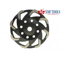 Buy cheap 105mm  Fan  5 Inch 7 Inch Diamond Cup Wheel ,  Black Diamond Concrete Grinding Cup from wholesalers