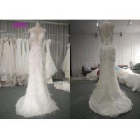Buy cheap Custom Made Luxury Real Beautiful Bridal Gowns Dresses 100% Feather Pearls Beading A Line from wholesalers