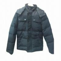 Buy cheap Men's Down Hooded Jacket, Made of Nylon and Wool Fabric with Down Padding from wholesalers