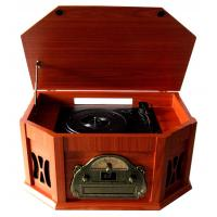 Buy cheap 2015 Populat Vintage CD Turntable Cassette Player with AM FM Radio from wholesalers