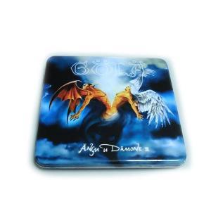 Buy cheap custom printed CD tin box with hinged lid product