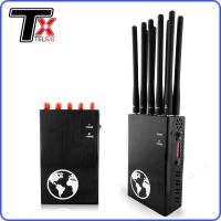 Buy cheap All In One Portable Signal Blocker , 10 Antenna Portable Mobile Jammer Scrambler Device from wholesalers
