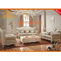 Buy cheap Dubai latest antique wooden top grain leather corner sofa furniture design from wholesalers
