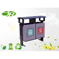 Buy cheap Galvanized Steel Metal Garbage Can Steel Garden Bin Standing For Community from wholesalers