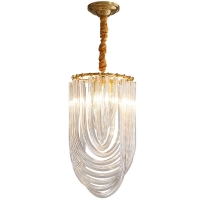 Buy cheap Bent Glass Tube 500*400mm / 600*400mm / 800*400mm Crystal Pendant Light from wholesalers