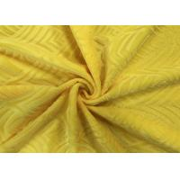 China 210GSM Soft 100% Polyester Embossed Pattern Micro Velvet Fabric for Home Textile - Yellow on sale