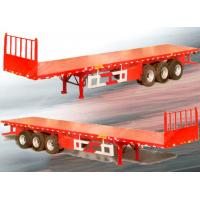 Buy cheap 3 axle 20ft 40ft long flat bed trailers  / custom flatbed trailers from wholesalers