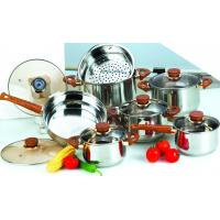 Buy cheap 13 Pcs Cooks Stainless Steel Cookware Sets with 22cm Steamer, 24cm Thermometer Glass Lid from wholesalers