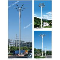 Buy cheap 20meter galvanized steel Outdoor soccer and cricket field landscape high mast pole light with high power LED light from wholesalers