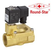 1 Inch Automatic Bistable Latching Solenoid Valve Pilot Operated Brass