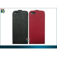 Buy cheap Red, Black Durable Pu Iphone3 Flip Lichi Leather Case, Iphone 5 Leather Pouch Case from wholesalers