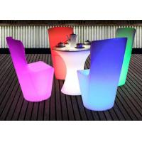 Buy cheap Rbg Color Changeable Outdoor Light Up Cocktail Tables Battery Rechargeable Ce Rohs from wholesalers
