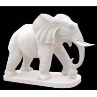 Buy cheap White Marble Elephent Sculpture from wholesalers