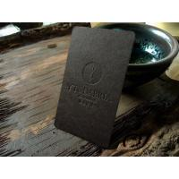 Buy cheap Colorful Blind Embossed Business Cards 500gsm Black Card Paper Type 90*54mm from wholesalers