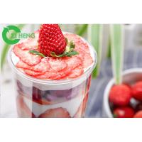 Buy cheap 1000ml Crystal Clear Plastic Cups With Dome Lids For Smoothies / Sliced Fruit from wholesalers