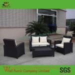 Buy cheap Cosco Outdoor Jamaica 4-Piece Resin Wicker Patio Conversation Set, Black WF-0793 from wholesalers