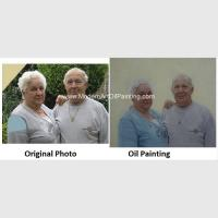 Buy cheap Contemporay Custom Oil Painting Portraits Aged People Portrait Oil Paintings On Canvas from wholesalers