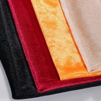 Buy cheap Super Soft Velour Knit Fabric Warp Knitted Strong Durable Eco - Friendly from wholesalers