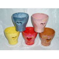 Buy cheap Decorative Ceramic Flower Pots Wall Mounted / Hanging / Free Standing Handmade Shape from wholesalers