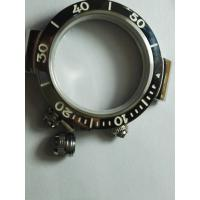 Buy cheap Quality steel watch case for swiss watches sapphire crystal oem prodution from wholesalers
