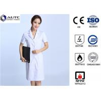 Buy cheap White Disposable Medical Workwear 30g-60g Weight Excellent Clipping Well Fit product