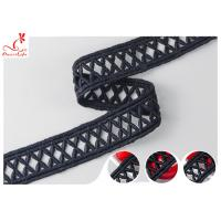 Buy cheap 2.4CM Hollow Embroidery Guipure Lace Trim With Poly Milk Lace Material DTM Dyeing product