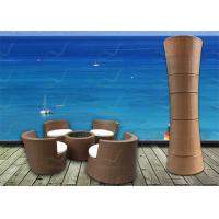 Buy cheap Small Balcony Furniture 5-Piece Rattan Wicker Outside Patio Furniture Wholesale from wholesalers