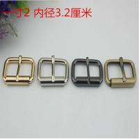 Buy cheap Customized 32 mm nickel iron metal pin roller bag buckle for garment webbing strap from wholesalers