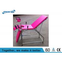 Buy cheap Stainless Steel Gynecological Medical Exam Tables,Pink  Portable Examination Chair from wholesalers