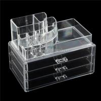 Buy cheap Beauty Products Retail Shop Counter Top Pure Acrylic Cosmetics Display Case from wholesalers