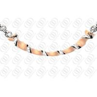 Buy cheap OEM / ODM Rose Gold Pendant Necklace With Silver Accents , gold chain necklace from wholesalers