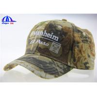 Buy cheap 3D Embroidery Outdoor Camo Baseball Hats Wholesale , Adjustable Baseball Caps from wholesalers