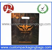 Buy cheap LDPE / CPE Raw Die Cut Handle Plastic Bags Black Color For Apparel from wholesalers