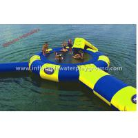 Buy cheap Ocean Inflatable Water Trampoline Combo With Water Launch Commercial Use from wholesalers