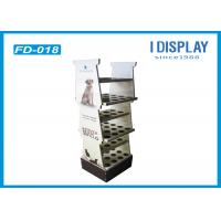 Buy cheap Floor Corrugated Cardboard Shelf Display / Cardboard Card Display Stand from wholesalers