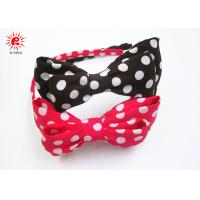 Buy cheap Fabric Dot Bowknot And Plastic Bow Hair Bands Korean Style Rose Brown product
